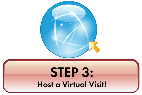 step three Host your Virtual Visit