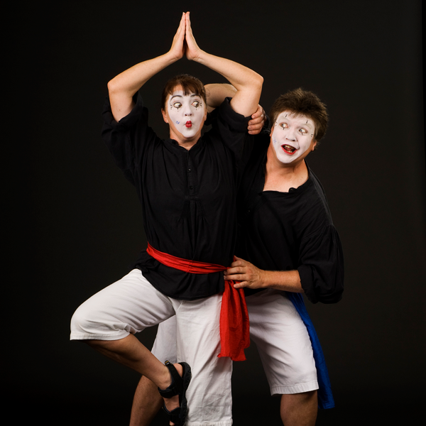 two mimes pictured